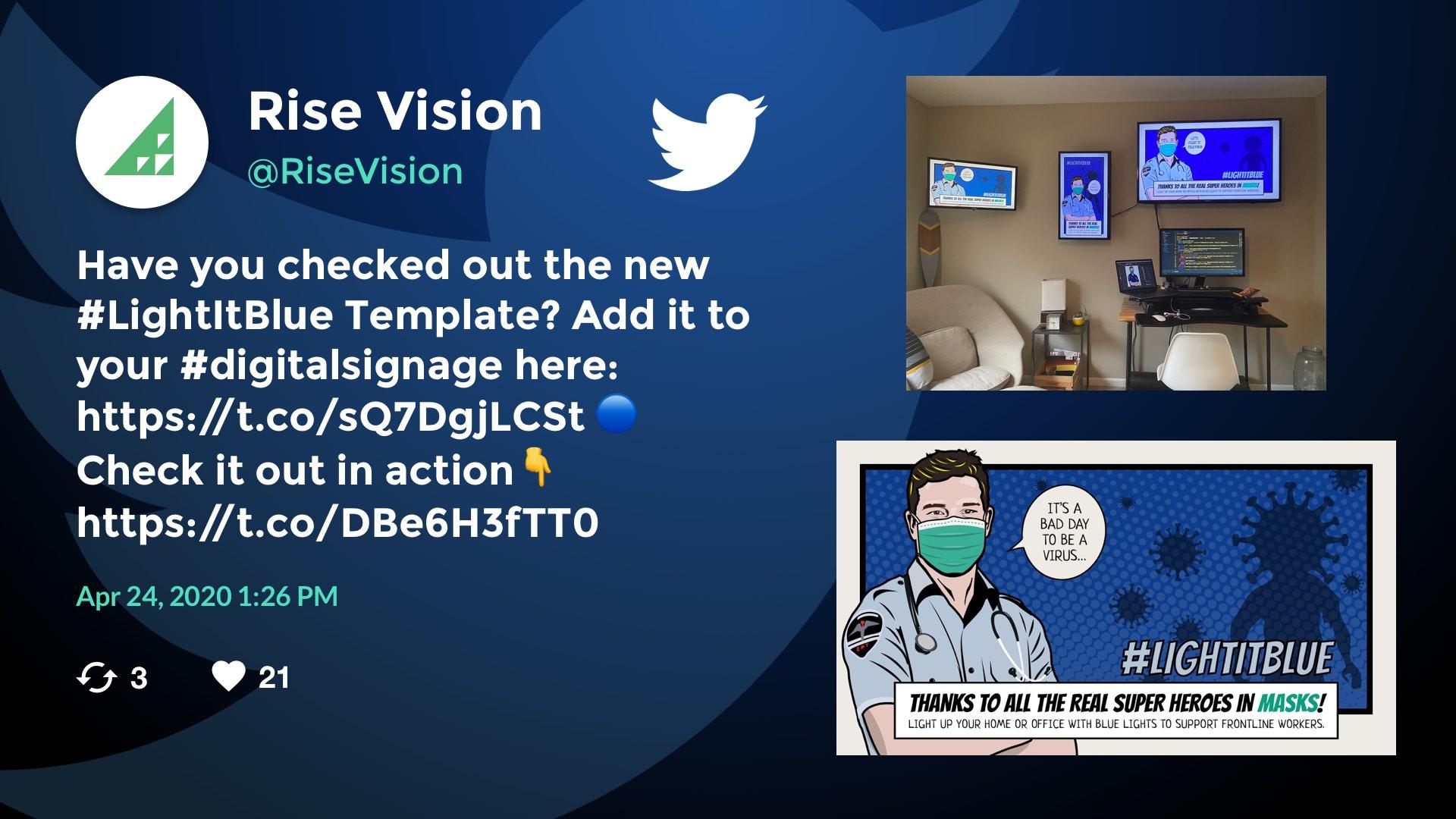 Full Screen Twitter Digital Signage Template