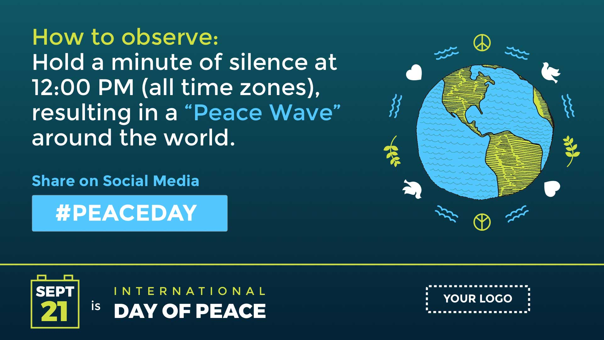 International Day of Peace Digital Signage Template