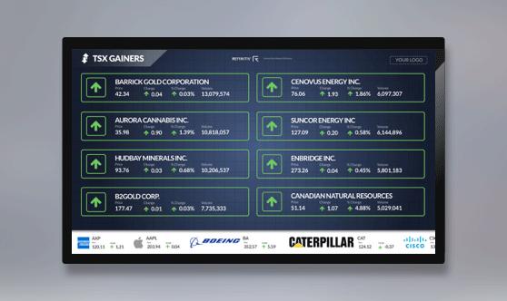 TSX Gainers Full Screen