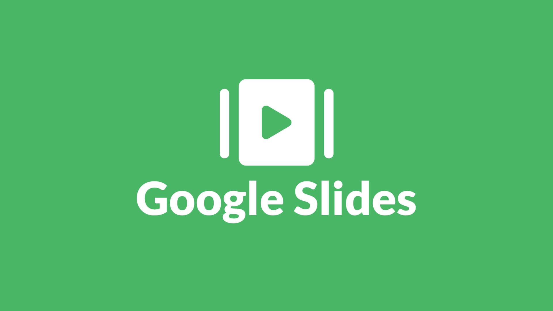 Google Slides Full Screen Digital Signage Template