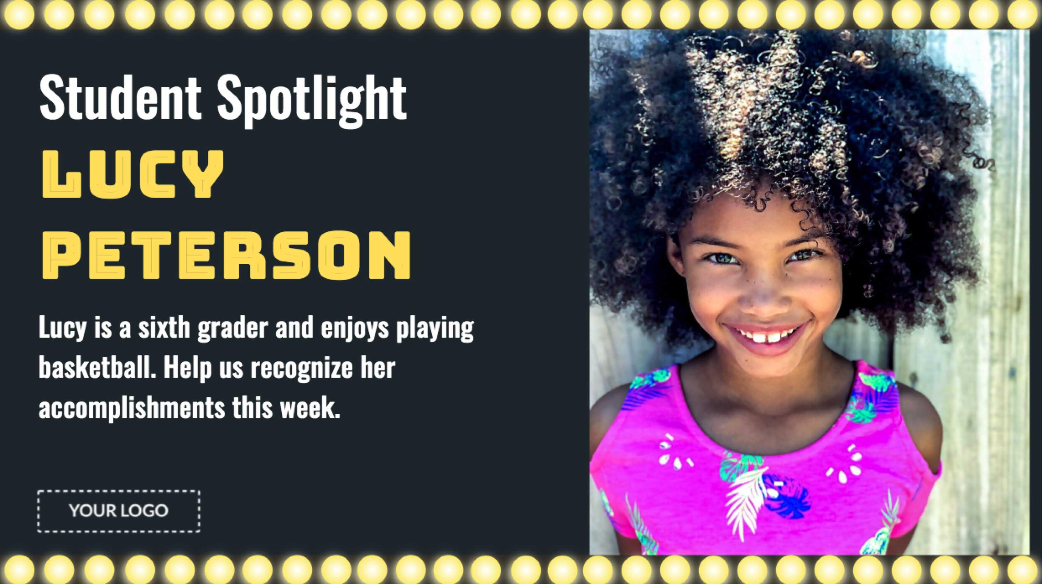 Student Spotlight Digital Signage Template