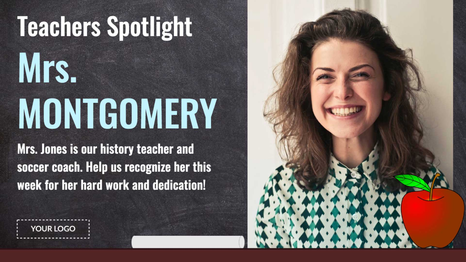 Teacher Spotlight Digital Signage Template