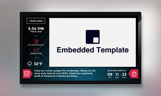 Zoned Embedded Countdown