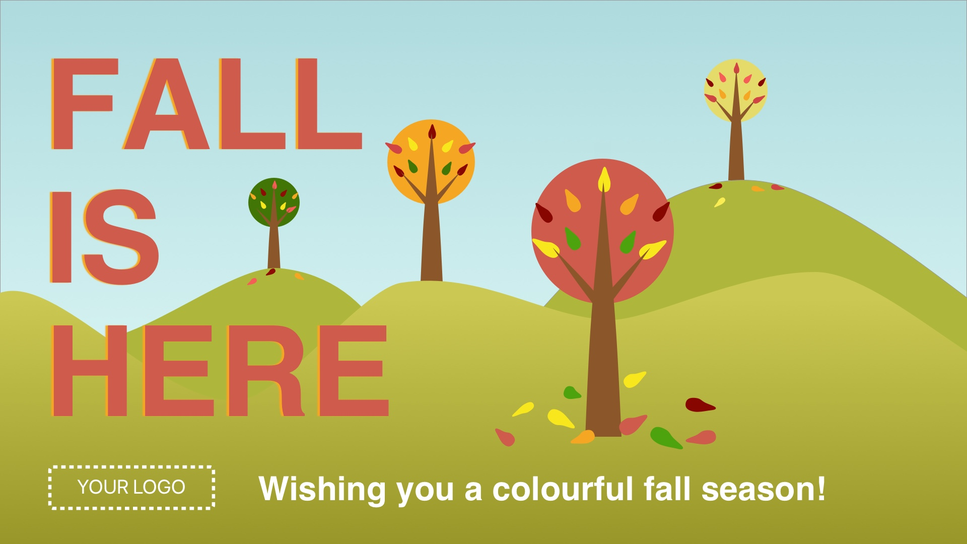 Fall is Here Digital Signage Template