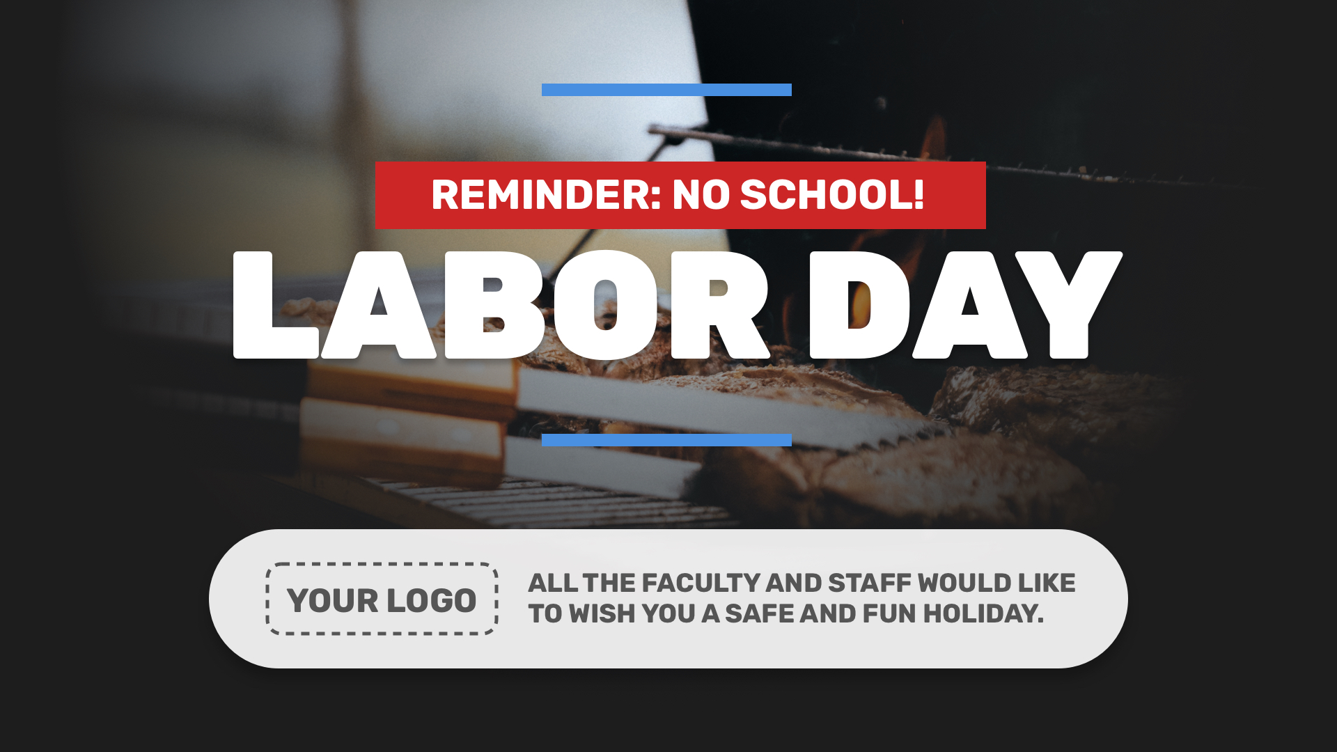 Labor Day Digital Signage Template