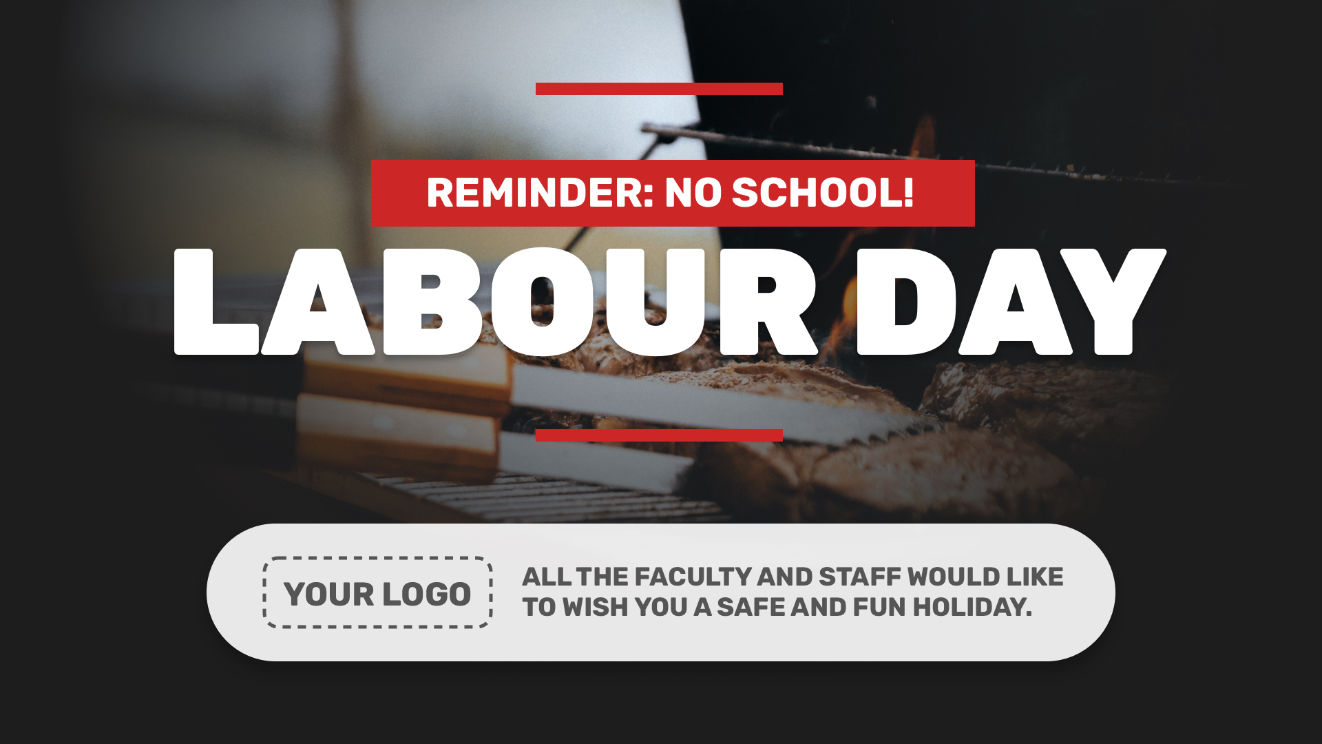 Labour Day Digital Signage Template