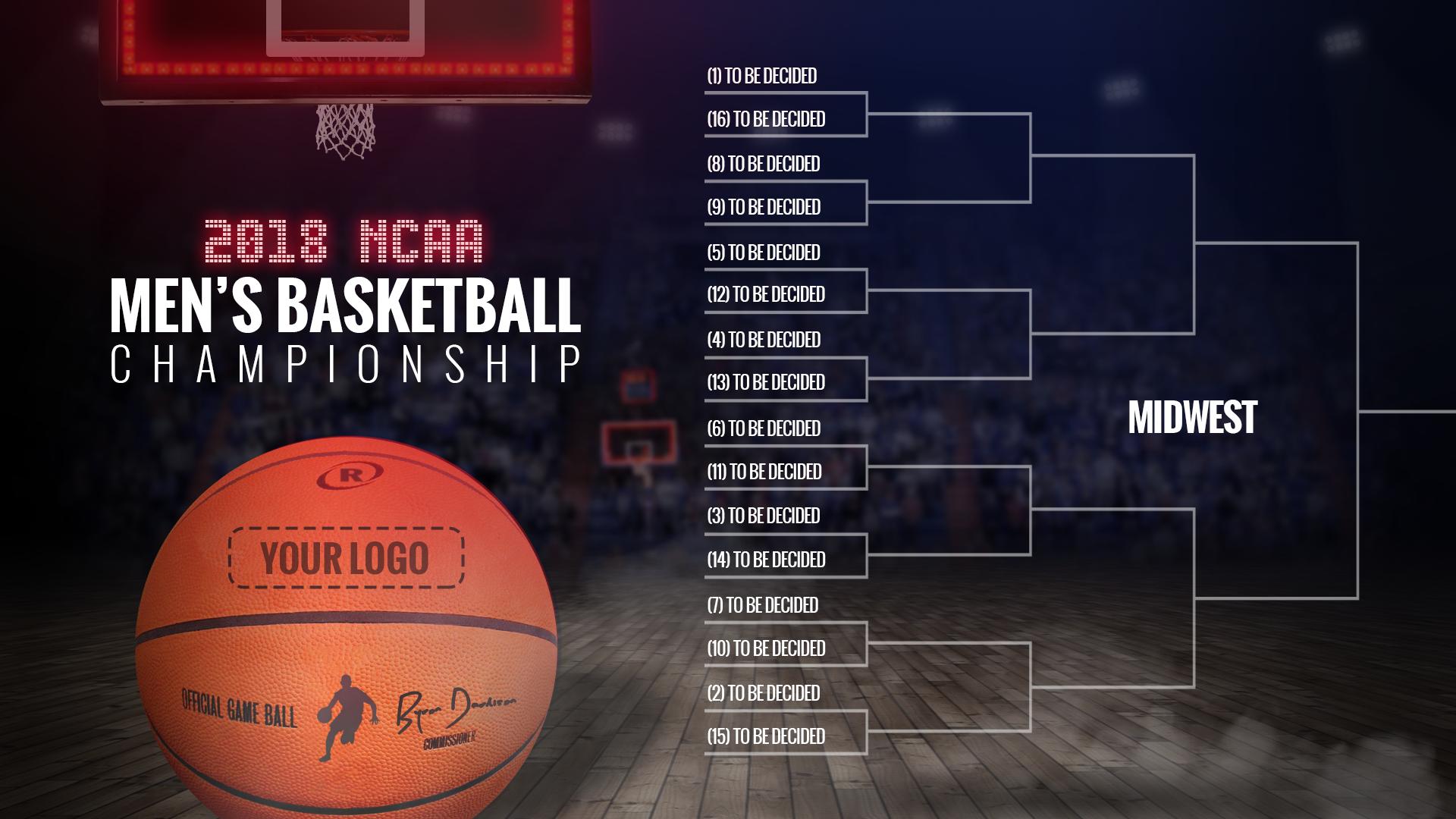 2018 NCAA Men's Basketball Bracket Template