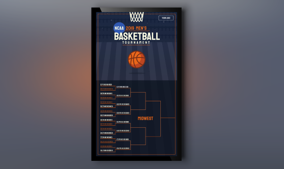 2019 Men's NCAA Basketball Bracket Portrait