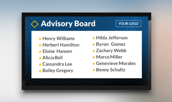 Advisory Recognition List