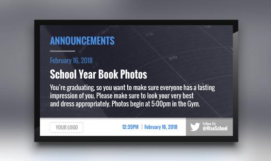 Announcements High School