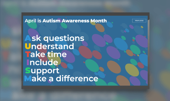 Autism Awareness Month - Acrostic