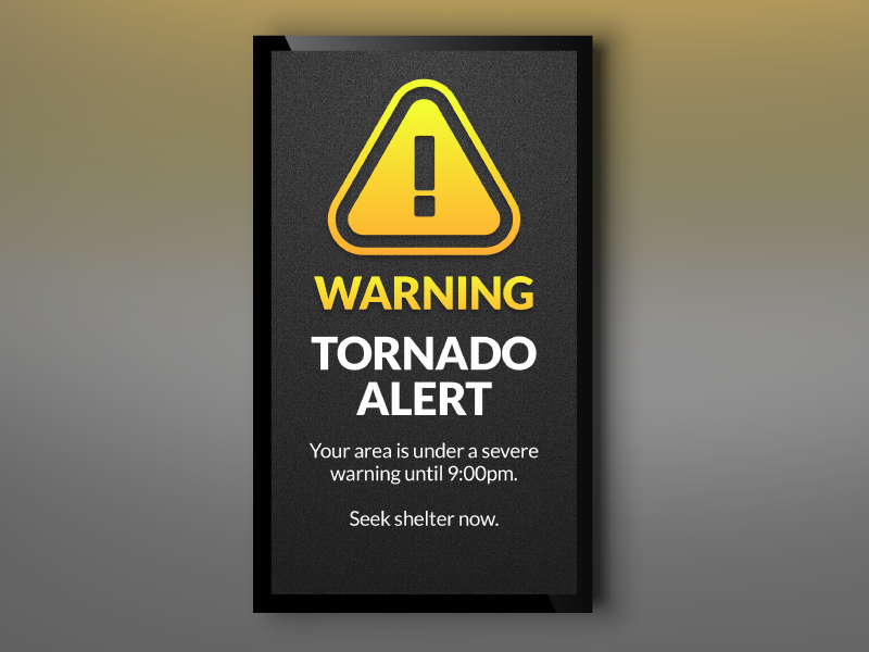CAP Alert Warning Portrait