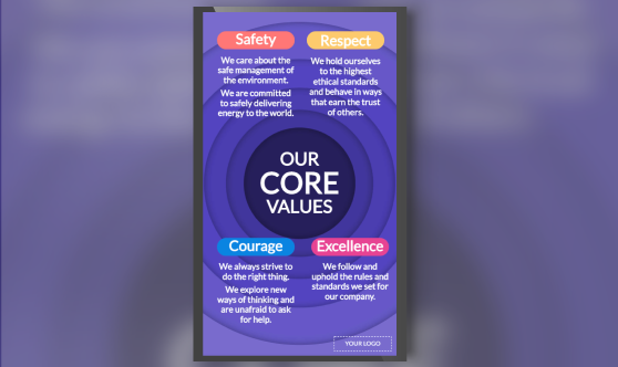 Company Values Circles Portrait