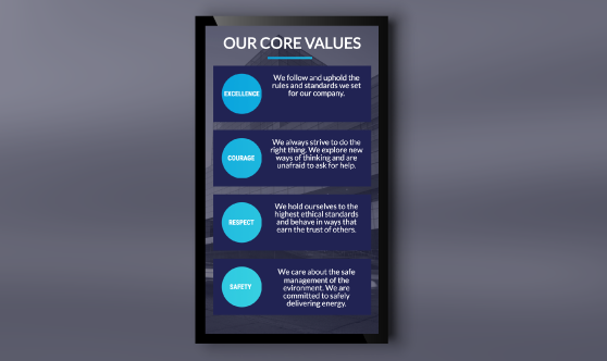 Company Values Portrait