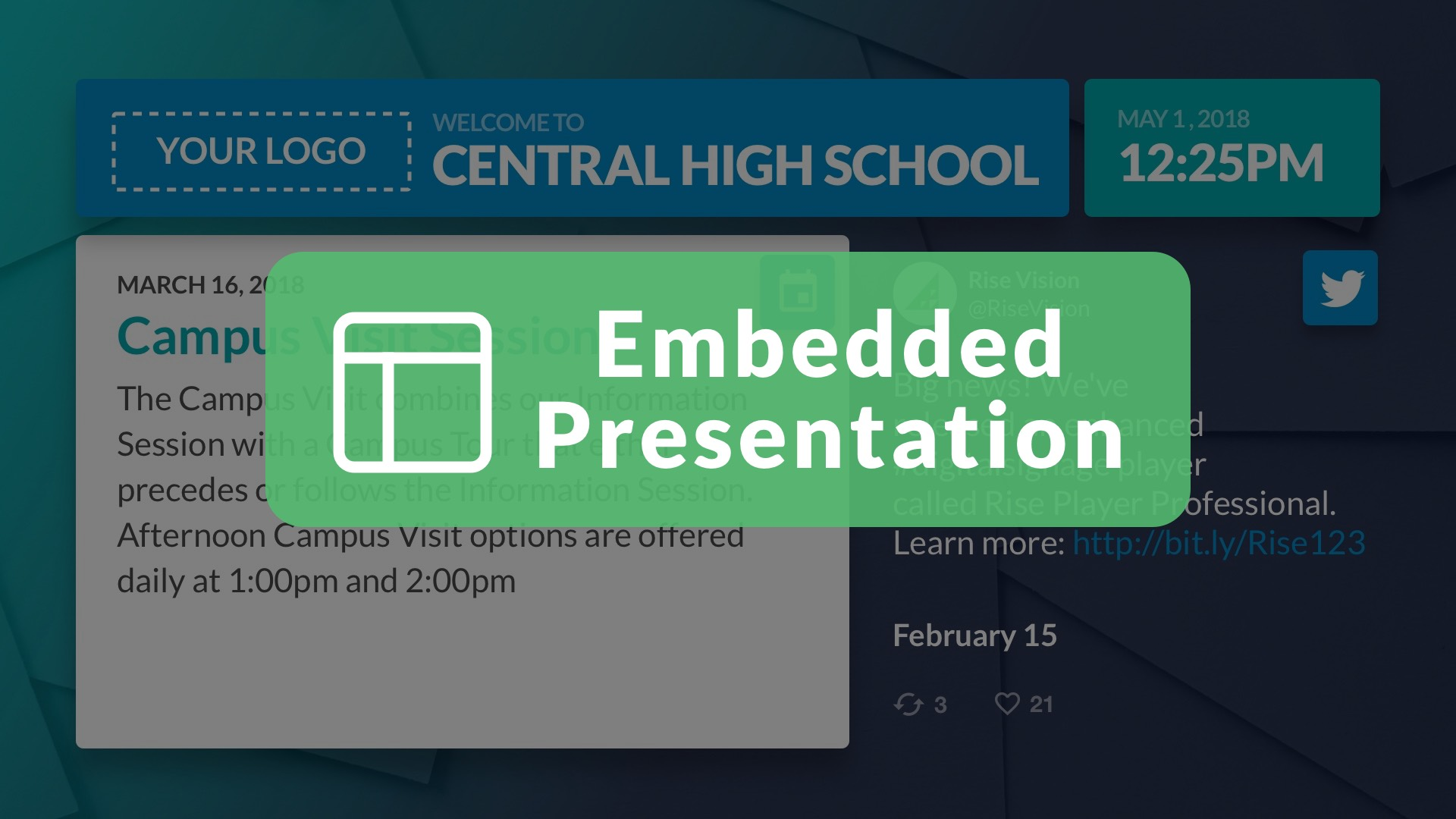 Embedded Presentation Widget