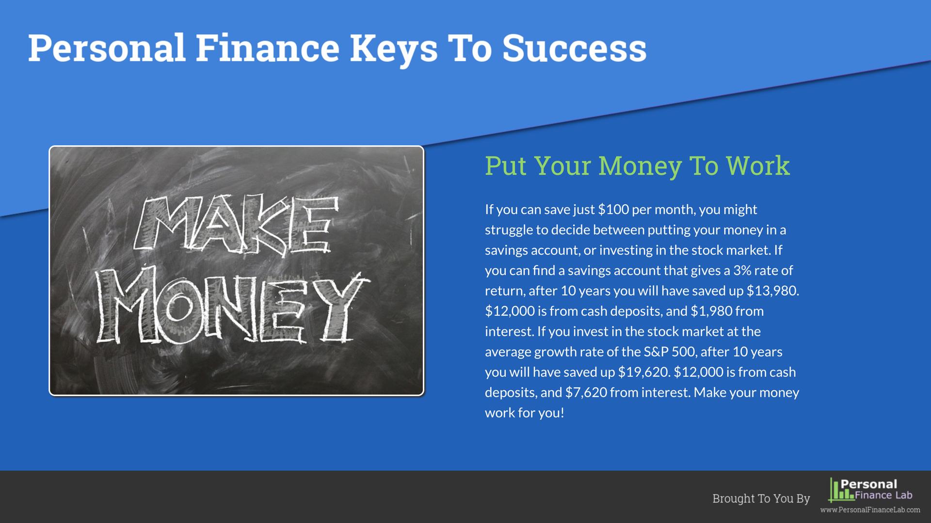 Financial Literacy Finance Success