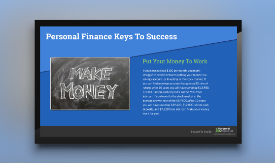 Financial Literacy Finance Success