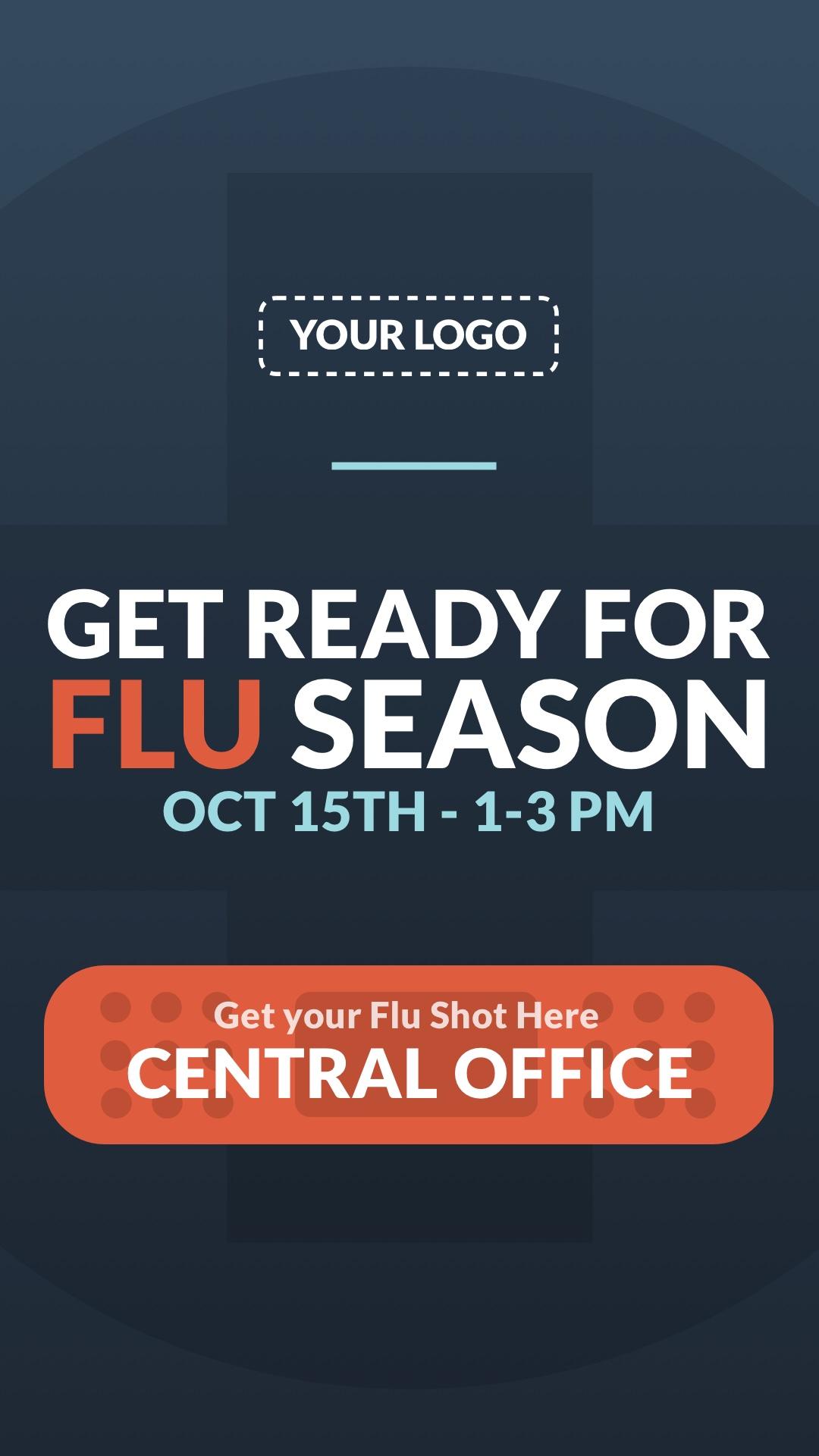 Flu Season Portrait Digital Signage Template