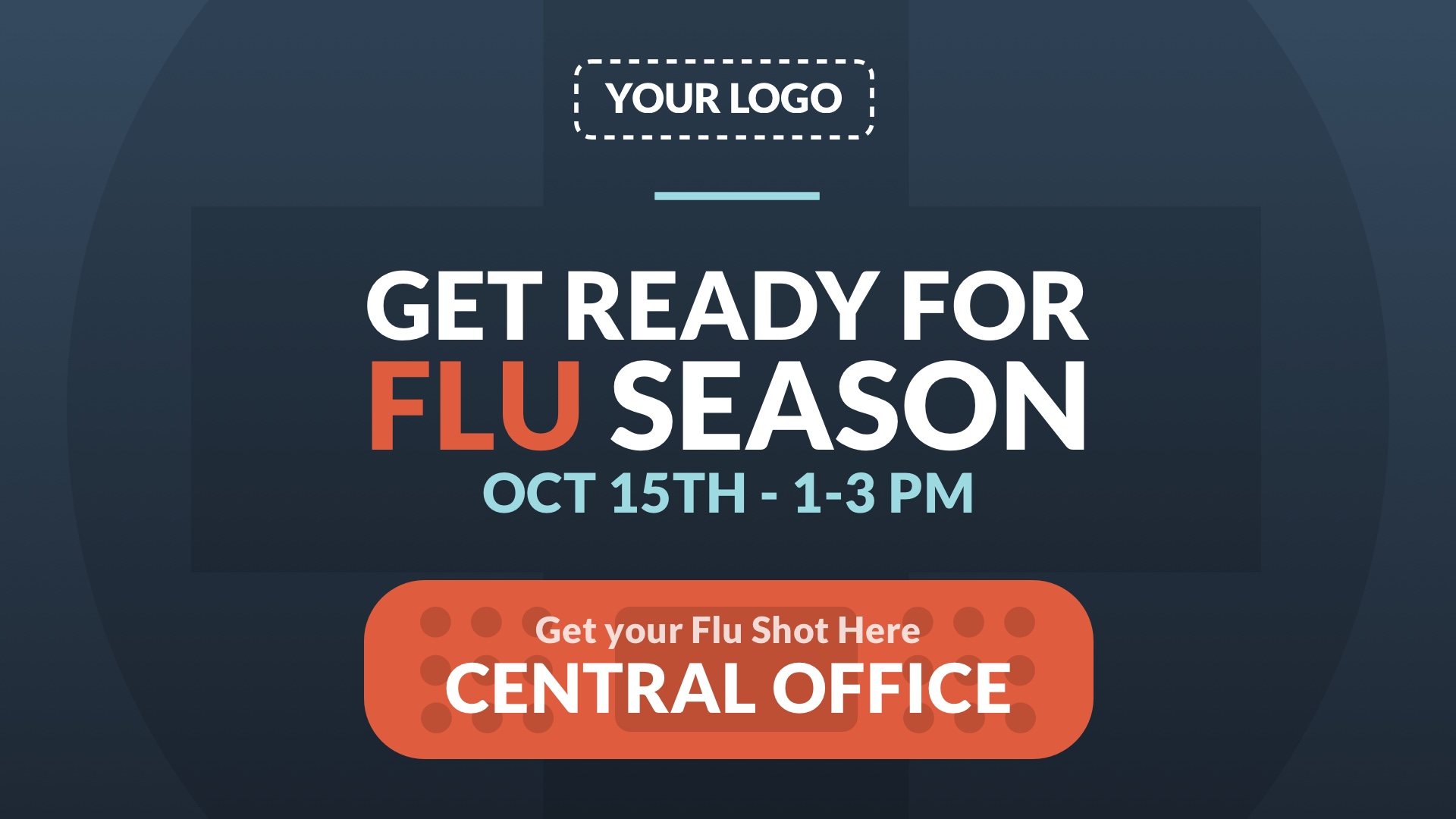 Flu Season Digital Signage Template