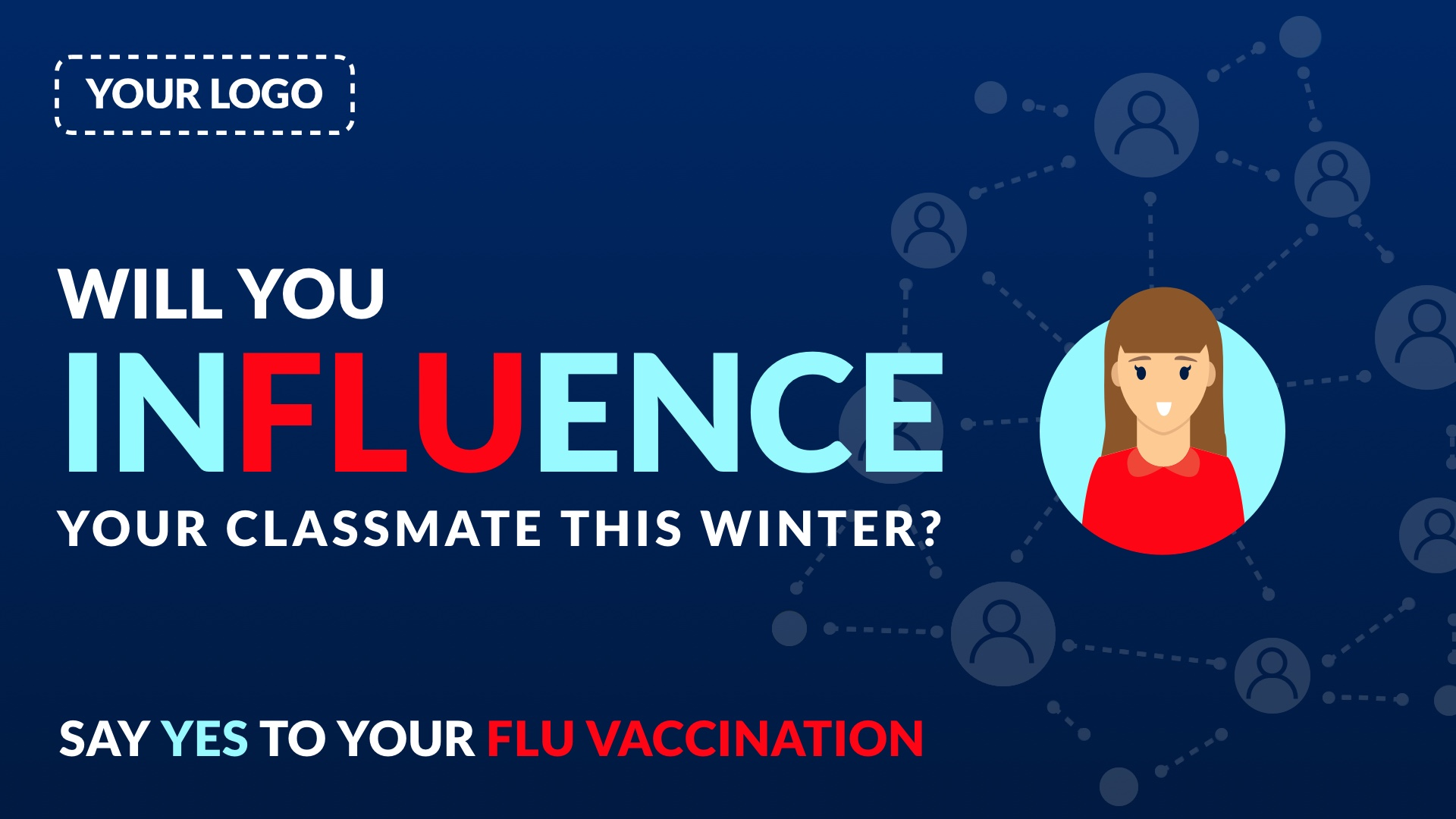 Flu Vaccination Digital Signage Template