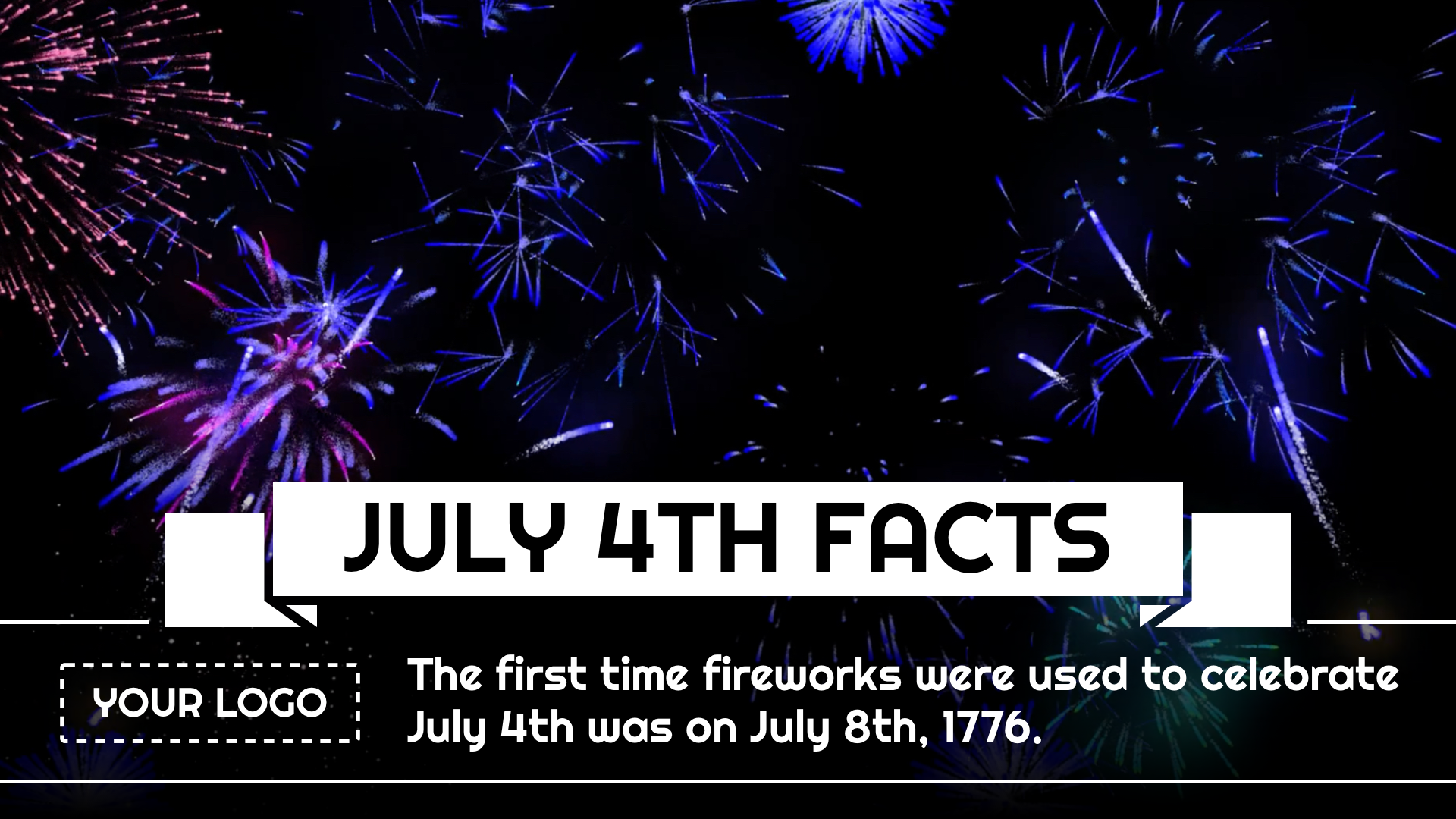 July 4th Facts Digital Signage Template