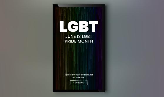 LGBT Pride Rain Portrait