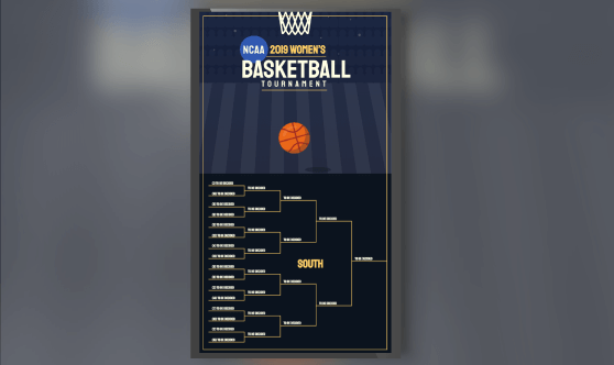 2019 Women's NCAA Basketball Bracket Portrait