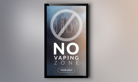 No Vaping Zone Portrait
