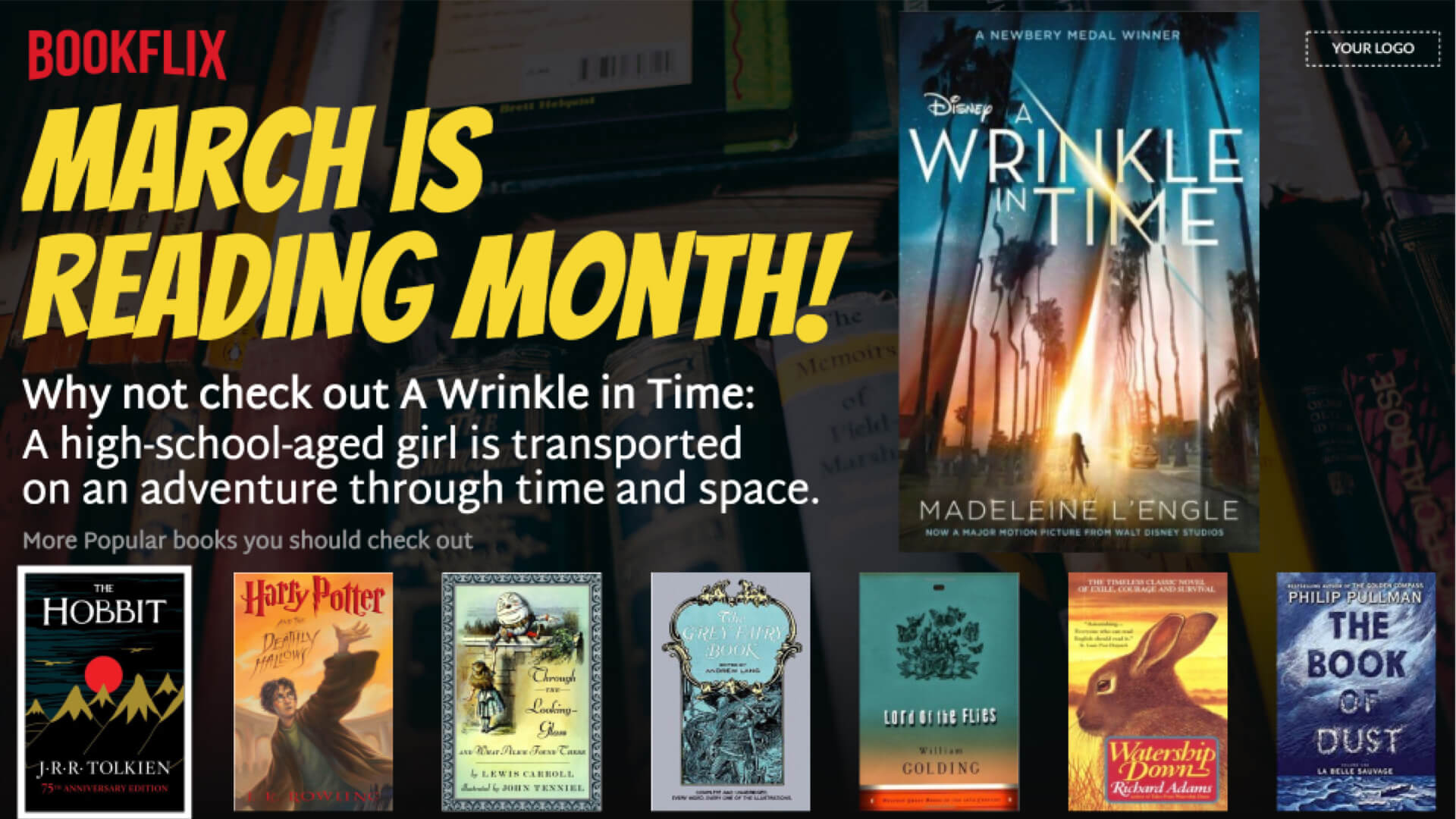 Reading Month Digital Signage Template