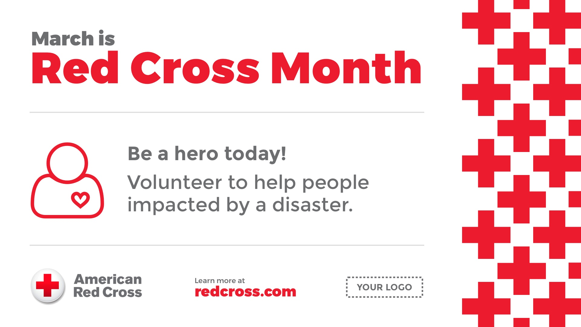 Red Cross Month Digital Signage Template