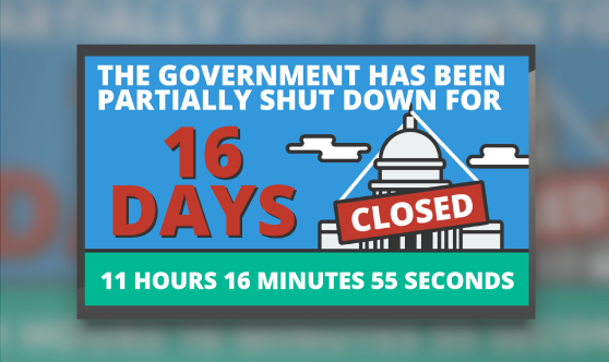 Government Shutdown Timer