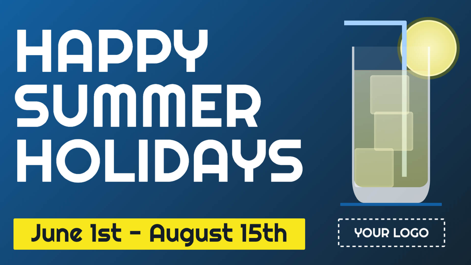 Summer Holidays Digital Signage Template