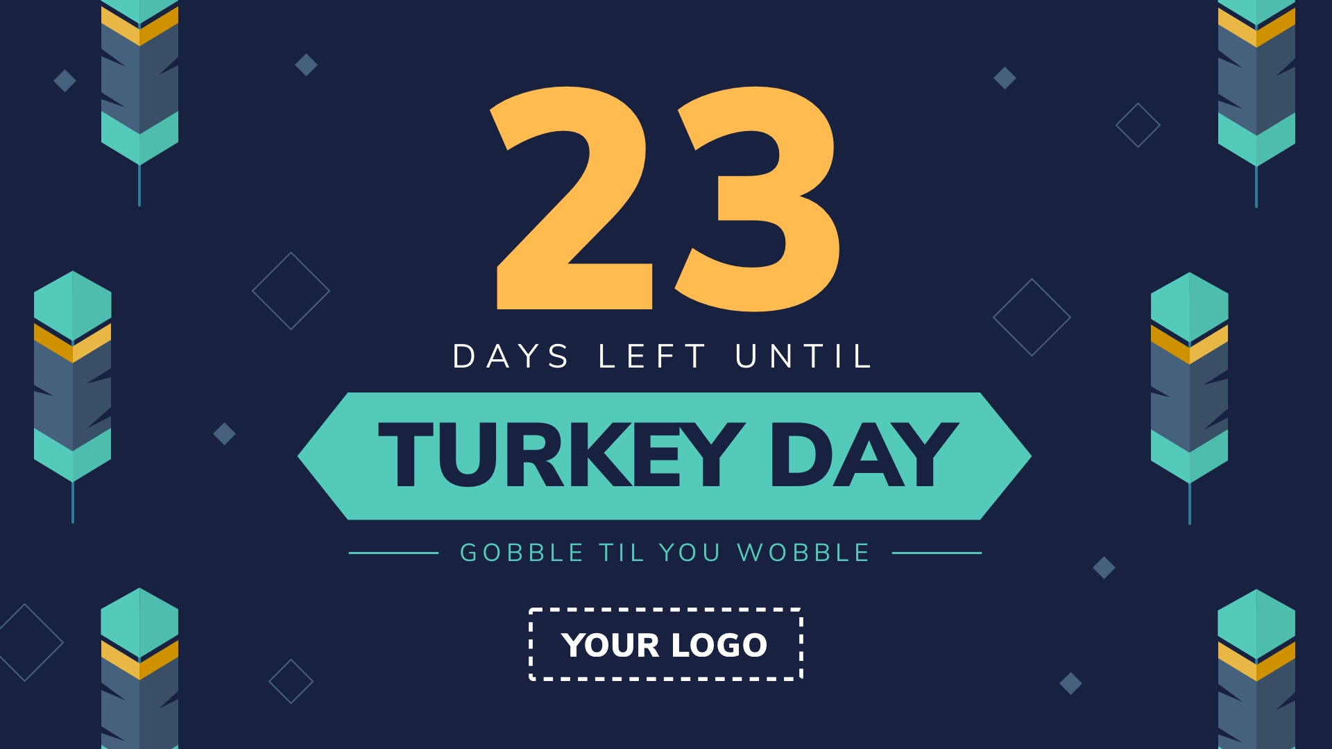 Turkey Day Countdown Digital Signage Template