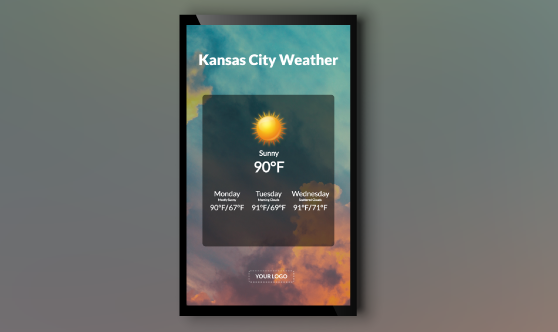Weather Forecast Widget Portrait