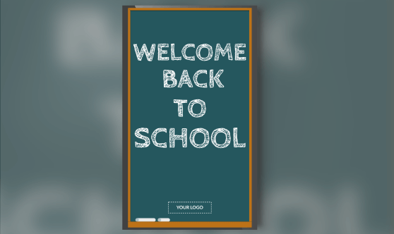 Welcome Back Chalkboard Portrait
