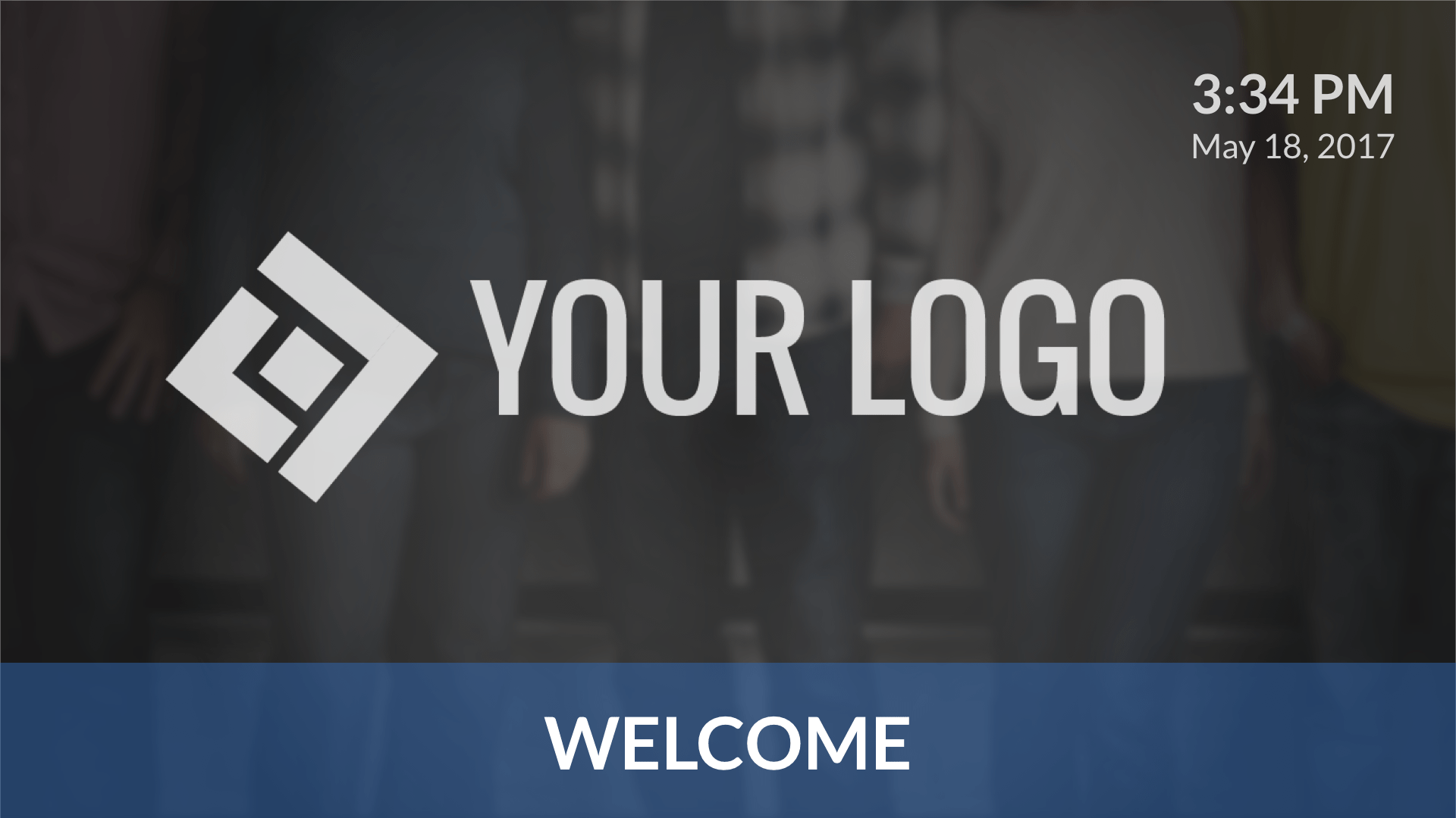 Welcome Image Digital Signage Template