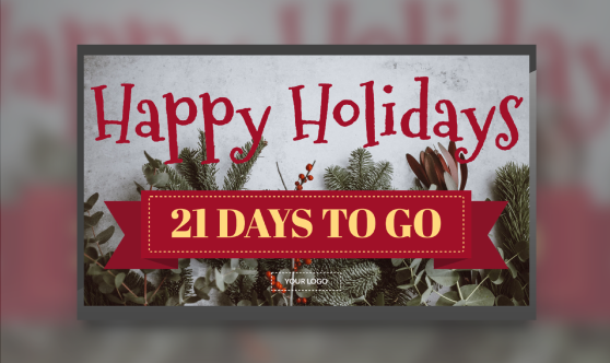Happy Holidays Countdown Banner