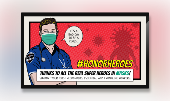 Campaign #HonorHeroes Text