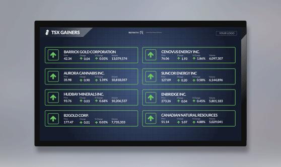 TSX Gainers Full Screen - No Ticker