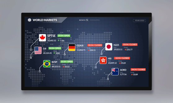 World Markets Full Screen - No Ticker