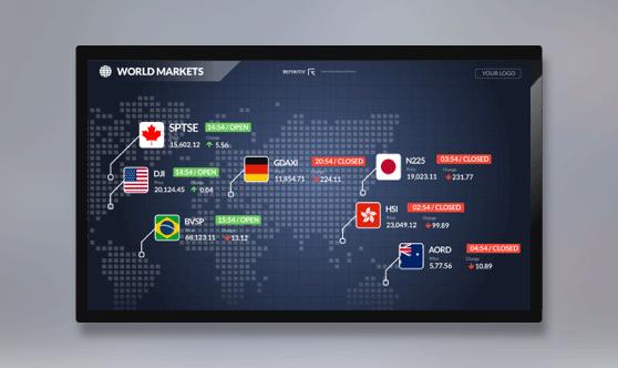 World Markets Full Screen - No Ticker