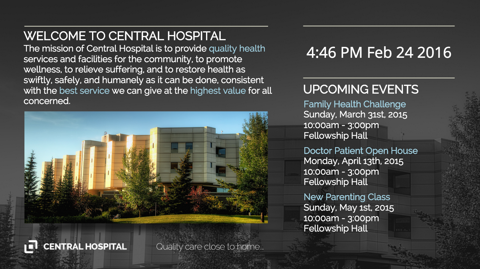 Hospital Events