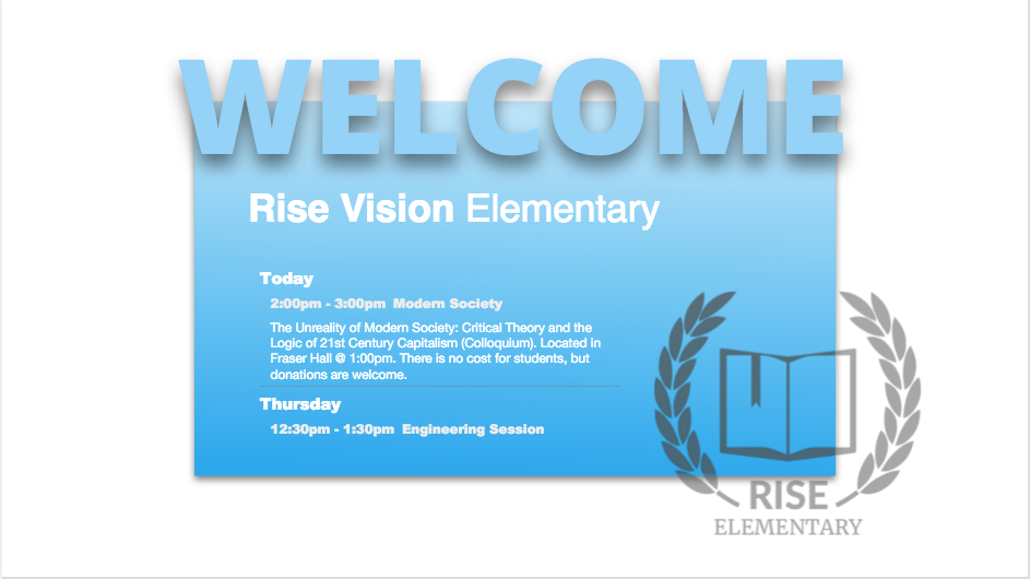 K12 Welcome and Events