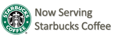 Serving Starbuck's Coffee