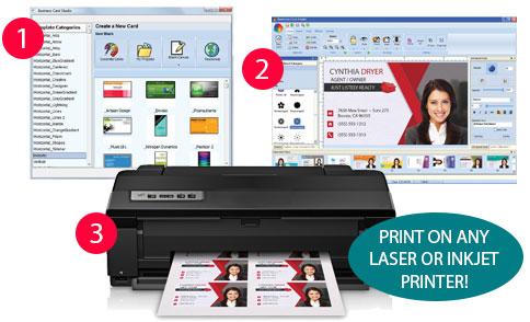 Business Card Studio Pro - choose change printer