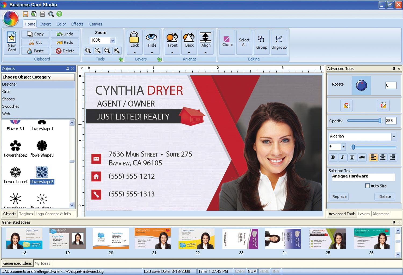 Business Card Studio Pro - screenshot 2
