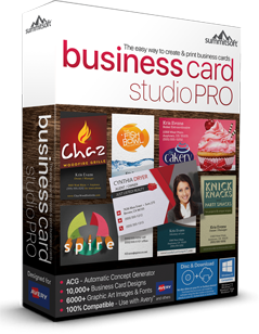 business card studio pro box