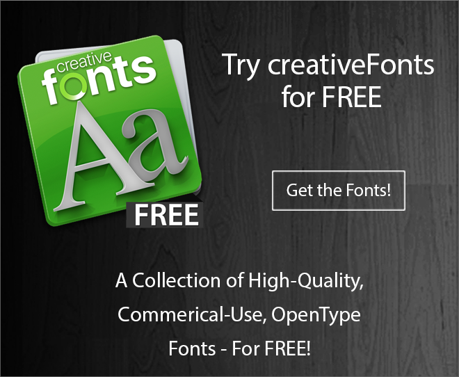 try creative fonts free