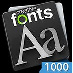 Creative Fonts 1000 Blue