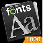 Creative Fonts 1000 Orange